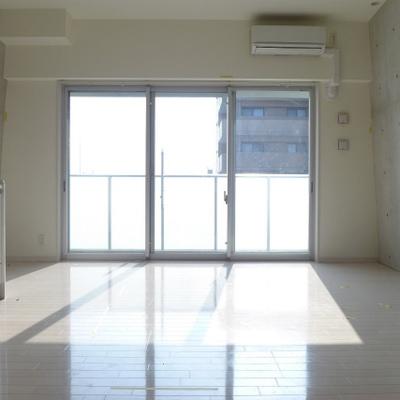 南向きの窓が大きく、室内は明るいです!