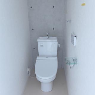 トイレにもコンクリ。広さあります!