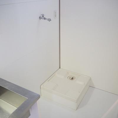 洗濯機も隠せます。