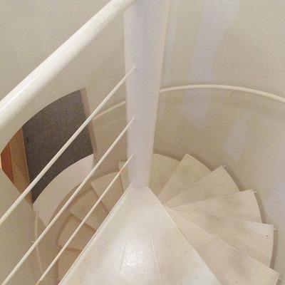 螺旋階段も素敵です。
