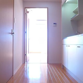 玄関からの眺め。キッチンまわりにゆとりありますよ〜