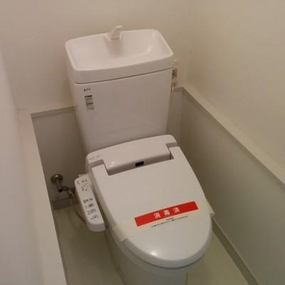 トイレも新品に見えます ※写真は別部屋です