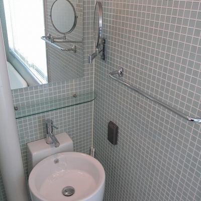 洗面台は浴槽と一緒です。 ※写真は別部屋です。