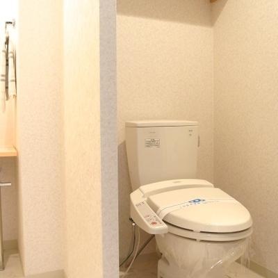 トイレは洗面台のとなりにこんな感じにあります※写真は801号