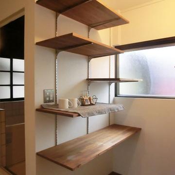 キッチンの棚も大きい!