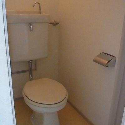 トイレは昔風