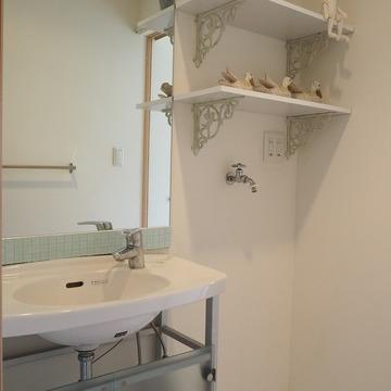 洗面台もかわいい!