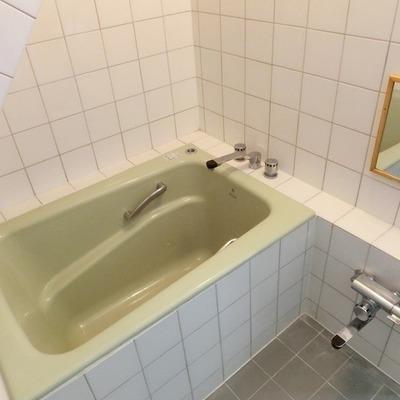 浴槽は少しこじんまりですね