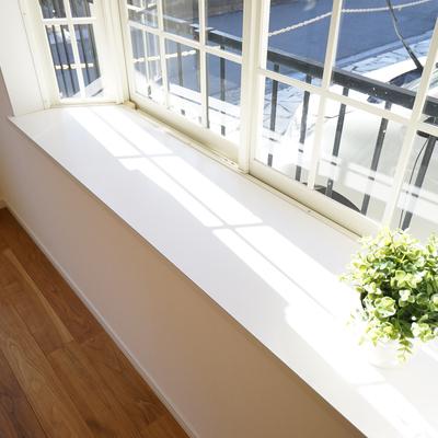 出窓も日当たりがよくて緑も◎