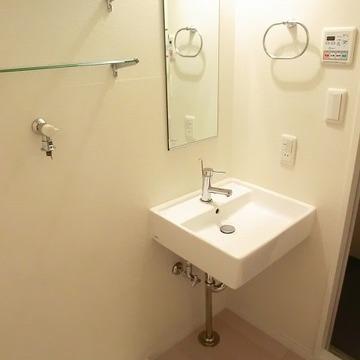 洗面台シンプル!