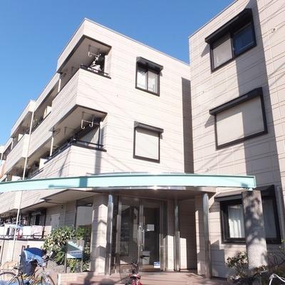 目白通り沿いにある敷地の広いマンションです。
