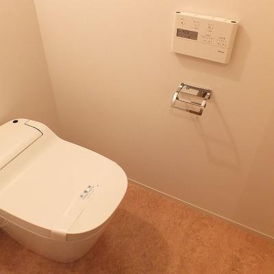 タンクレススマートなトイレ。