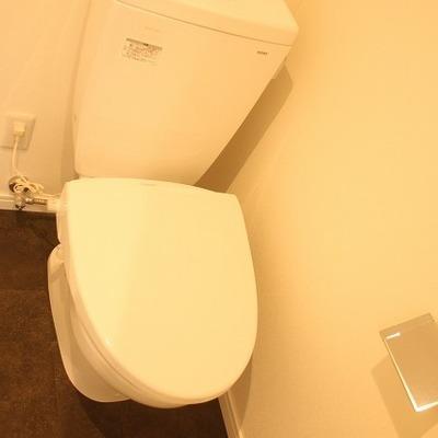 トイレも余裕の広さ