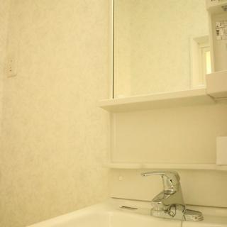 洗面台だってぴかぴかです。