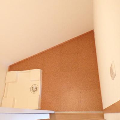 洗濯機を置くためだけのお部屋があります。