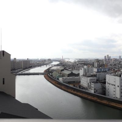 二筋の川を眺めて