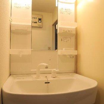洗面台は綺麗なこちらをそのまま利用