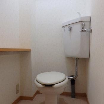 トイレは昔のままで。
