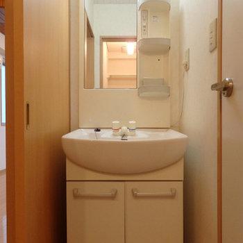 洗面台は割とキレイ