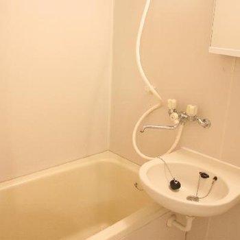 洗面台はお風呂場の中に