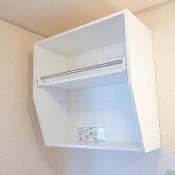 洗濯機置場の上部に棚あり! これはありがたい