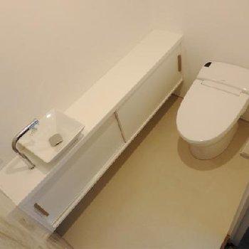 トイレは広々と使うことができます。