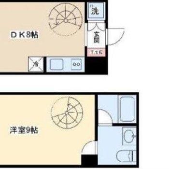 螺旋階段があるお部屋なんて、素敵