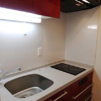 キッチンはIHが2口付いています。