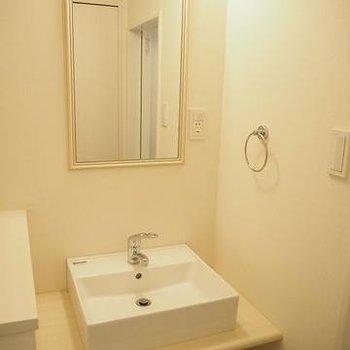 洗面台キレイ。※写真は105号室