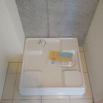 玄関横の洗濯機は隠せます!