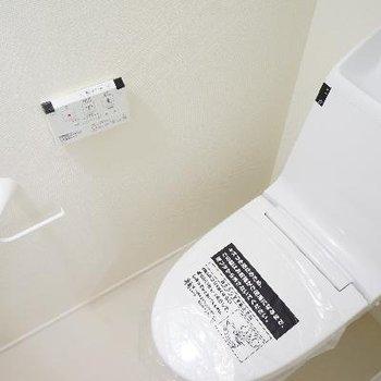トイレはピカピカ機能的♪