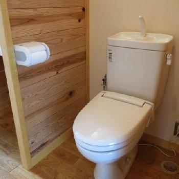 脱衣洗面兼、トイレ。※写真は別部屋です
