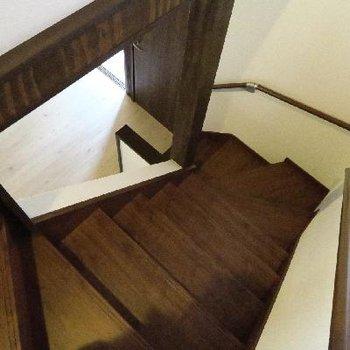 フロアを繋ぐ階段。