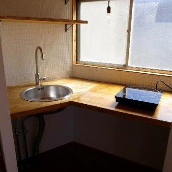 キッチンはコンパクトに。