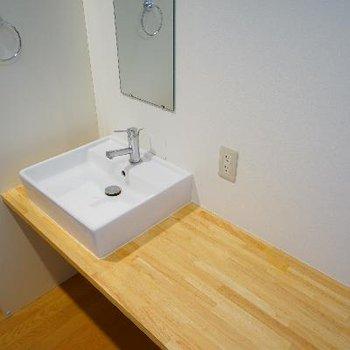 洗面台はゆったり使い勝手◎