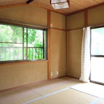 お2階は和室でほっこり。