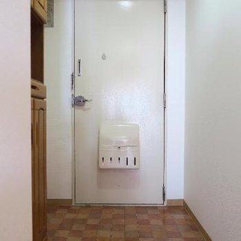 玄関もゆったりですね。