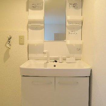 独立洗面台もばっちり。
