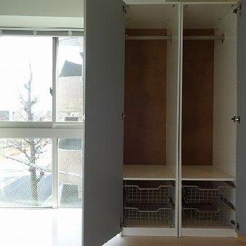 収納スペースも充実 ※写真は別部屋です