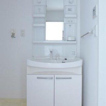 洗面台も大きく、使い勝手は良さそう!※写真は別部屋