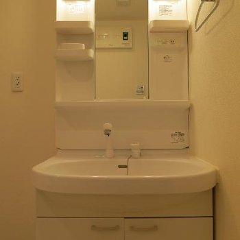 洗面台は普通