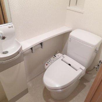 洗面台付きのトイレ!!