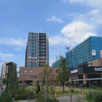 神崎川駅前はどんどん新しく便利になっていますよ!
