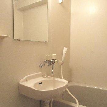 浴室はシンプルそのもの。