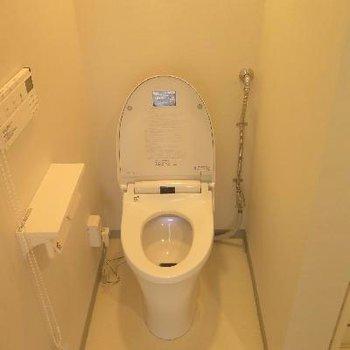 最新式のトイレ