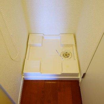 玄関横に洗濯機です。