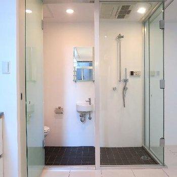 コンパクトなシャワールーム。