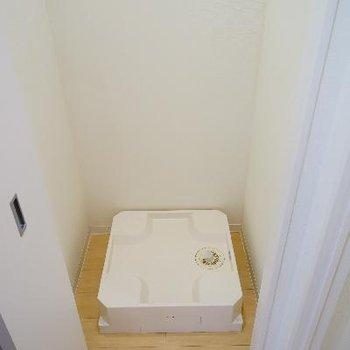 洗濯機は隠せます♪