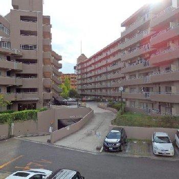 のどかな住宅街の眺望。