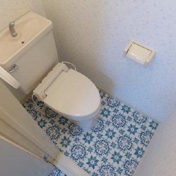 トイレの床だって可愛いさ〜